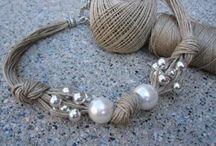 braccialetto corda/perle
