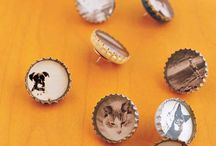 Bottle Cap Magnets and pins
