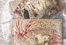 Embroidered and quilted post cards / by Anne Davies