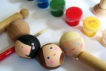 Peg head dolls