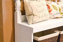 Bench from headboard