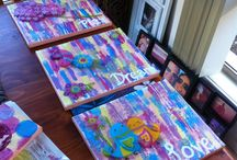 Pictures for Little girls room / Paintings love, dream and play
