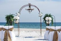 """An """"Arch with Chandelier"""" Beach Wedding Package / Big Day Weddings, Beach Weddings, Arch with Chandelier Wedding Package, Wedding Packages, Alabama Beach Weddings, Gulf Coast Weddings, Orange Beach Alabama, Gulf Shores Alabama"""