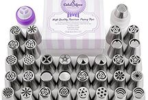 Cake&Deco / Cake, Capcake Decorating Russian Piping Tips Set Russian Piping Nozzles #buttercreamflowers