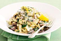 Fettucine with mixed mushroom sauce
