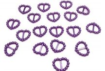 Pearl Heart Shaped Ribbon Slider Buckles / Great finishing touch for invitations, craft projects and many other uses.