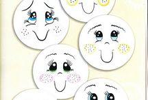 Obličeje -různé(kulaté)