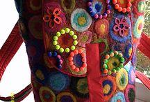 рюкзаки ручной работы шерсть валяние