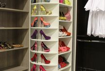 clothes and shoe closet