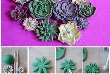cake decor succulents
