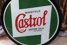 """Vintage castrol 24"""" enamel sign"""