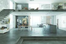 Concrete Floors / concrete floors / flooring, cementitious screeds, polished concrete floors, hard surfaces, contemporary interiors, European style