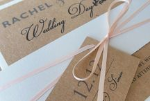 Rustic wedding invitations / Rustic stationery