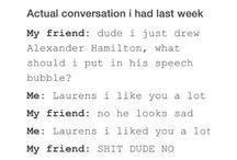 Hamilton and cast