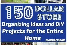 Dollar Store projects / Make storage and organization with dollar store purchases. What could be better than that?