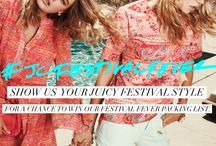 #JCFestivalFever / We've got #FestivalFever! Take a look at our picks for festival style, Juicy inspiration, and more.  / by Juicy Couture