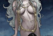 "Comic ladydeath / Lady death sometimes referred to simply as Death, is a Marvel Comics super-being and the personification of death: although she is seldom seen and rarely speaks she has been known to manipulate and interfere with mortals on a few occassions: amongst her would-be-lovers are Thanos and Walker - to Thanos she ""mothered"" the anomaly known as Rot and the two teamed up to destroy this offspring before it could devour the universe."