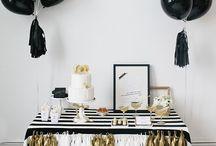 gold x black party