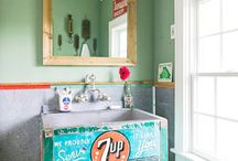 Bathrooms / Little bathrooms in an old house definitely need some style to make them shine!