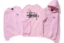 Stussy felpe rosa