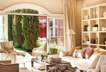 neutrals and naturals / living with less colour and more interest