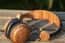 Houten oordopjes en koptelefoons / Houten in-ear en on-ear koptelefoons