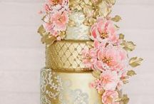Pink and Gold Wedding Theme / Pink and Gold go great together for a beautiful wedding day!  Pink and gold wedding dresses, cakes, decor, invitations, venues, table settings and more! / by Avail & Company | Wedding Dresses and Bridal Gown Designer in the Chicago Illinois Area