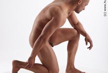 #9 - Kneeling Poses - Human Anatomy / Male Anatomy for Artist Human Body Anatomy Drawing Kneeling Pose