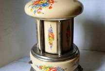 "Little Romance Vintage Style / These vintage items say ""I love you"" or create romantic atmosphere. Includes candle holders"