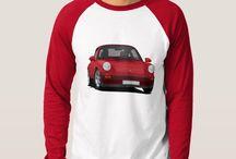 Porsche t-shirts / Porsche illustrations on t-shirts.