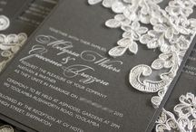 White Ink Printing Invitations / Invitations by Lava Stationery with White Ink Printing!