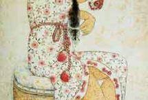 женский портрет сидя