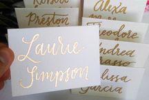 Gold Glitter & White Wedding