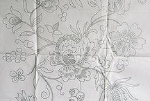 dibujos para mantones y manteos
