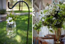 green/eco-friendly wedding details
