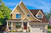 Autumn - Top Down Color / Home Exterior Color Schemes with DaVinci Shake Roof