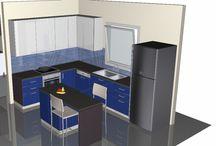 3d σχέδια κουζίνας / Προτάσεις κουζίνας σχεδιασμένες από εμάς