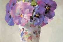 букет цветов  картина