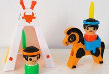 Minitou par Educalux / Minitou par educalux mignons petits personnages année 70 jouets vintage Minitou by educalux cute little caracteres 70's vintage toys
