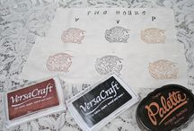 Fabric Stamping & Stencil / To do with printmaking on paper or fabric.