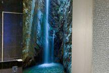 Szkło laminowane w łazience - grafika na szkle - szkło