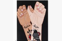 Wild Wagon Co Tattoos Collection / Who wouldn't love a rebel with such gorgeous tattoos? For the slightly irreverent but wholly authentic rebels in your life, consider one among this collection of crisp, tattoo-themed art prints and greeting cards. The high-contrast, eclectic motifs pay tribute to the traditional americana inspired modern ink-on-skin designs.