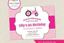Pink Tractor Birthday