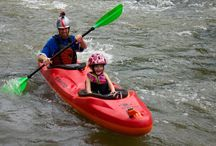 Kids and Watersports / Children learning and doing canoe, kayak, raft, stand up paddleboard (SUP), kayak fishing, and other on-the-water sports.