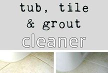 homemade tile and grout cleaner