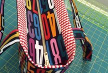 Zipper panels for bags