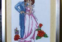 Haftowane pamiątki ślubu / To tylko część moich prac :) Jeśli podobają ci się i chcesz je mieć to zapraszam do kontaktu: cohenna@o2.pl