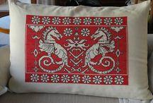 embroidery / ricamo a mano punto Assisi, cross stitch