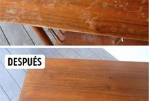 Reparar rayones en madera