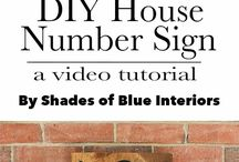 House Numbers / House number indicators
